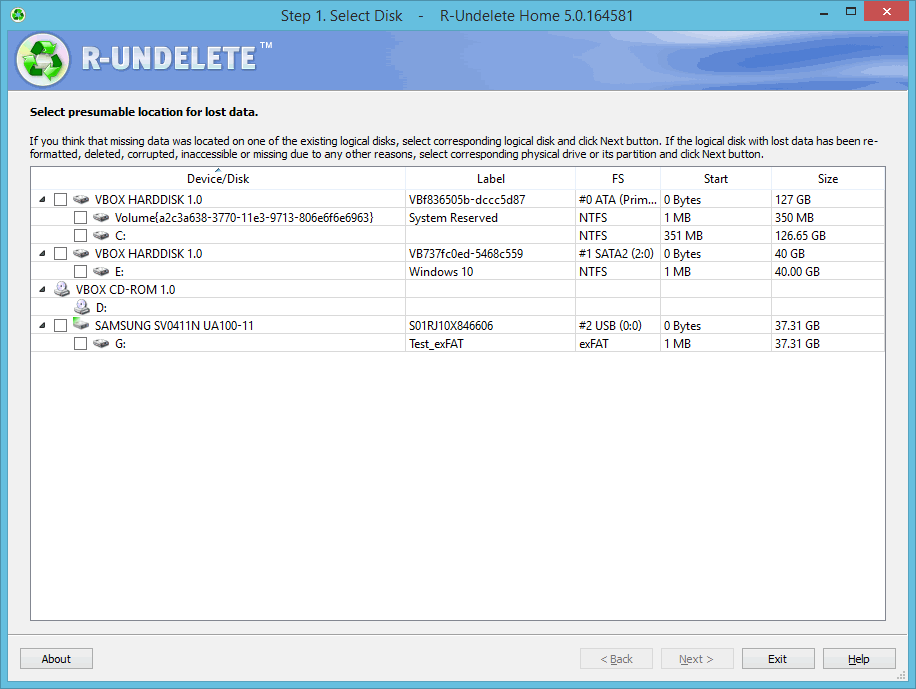 R-Undelete (ver. 5.0 build 165150)