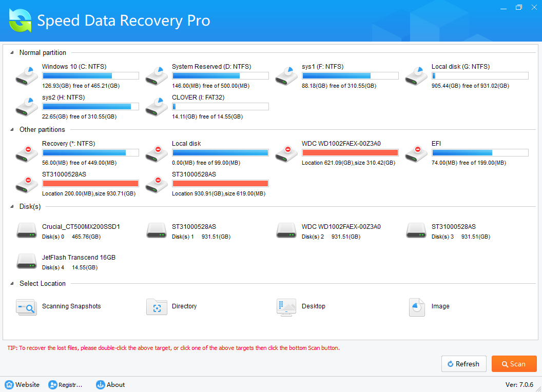 Speed Data Recovery (ver. 7.0.6)