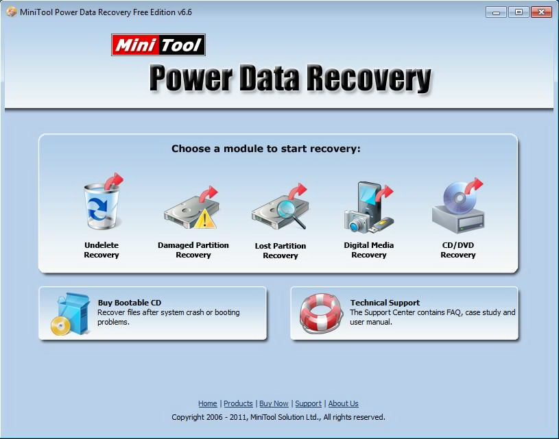 MiniTool Power Data Recovery (ver. 6.6)